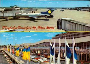 Flughafen-Frankfurt am Main Flughafen 2 Bild Flugzeug Lufthansa 1978