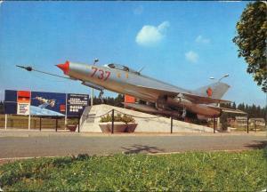 Morgenröthe-Rautenkranz Denkmal Kosmonauten MIG 21F-13 Oberst Sigmund Jähn 1984
