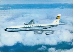 Ansichtskarte  Boeing Jet 707 Lufthansa im flug Flugwesen - Flugzeuge 1965
