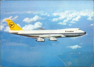 Ansichtskarte  Condor Jumbo-Jet BOEING 747 Flugzeug 1978