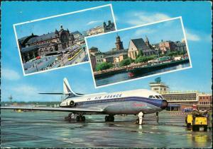 Flughafen-Frankfurt am Main Flughafen Air France Fleugzeug Bahnhof 1968