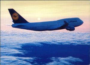 Ansichtskarte  Lufthansa Boeing 747-400 Flugwesen - Flugzeuge 1988