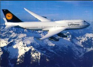 Lufthansa Boeing 747-400 Flugwesen - Flugzeuge über den Alpen 1987