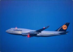 Ansichtskarte  Lufthansa Boeing 747-400 Flugwesen - Flugzeuge im flugf 1991