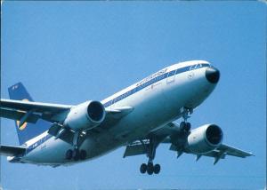 Ansichtskarte  Lufthansa Airbus A310 Flugwesen - Flugzeuge 1989