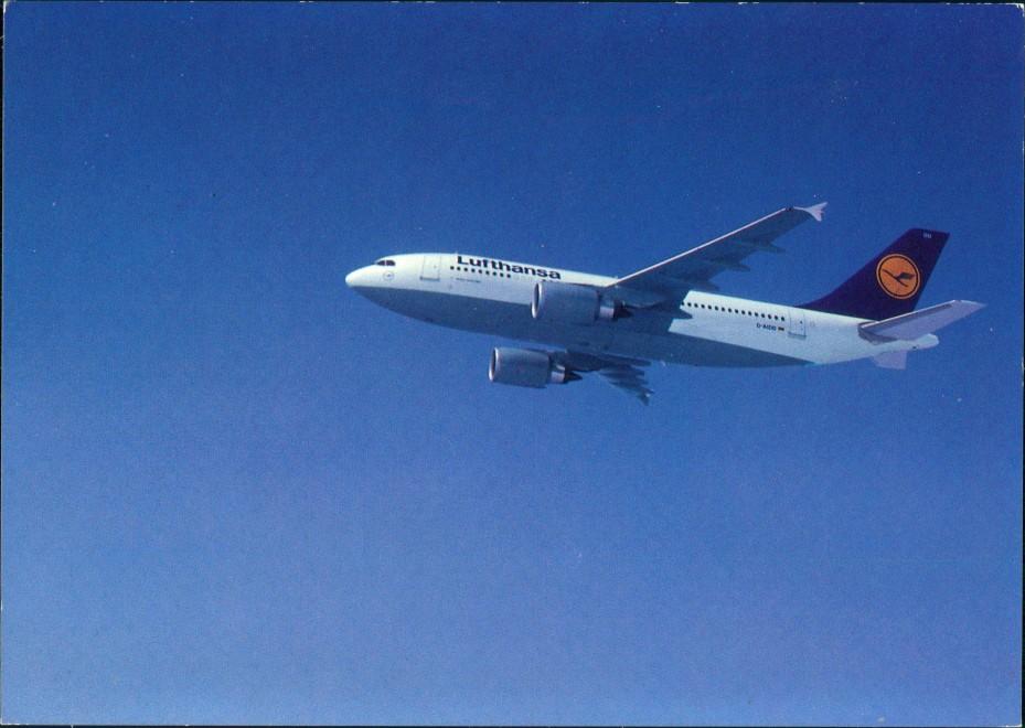 Ansichtskarte  Lufthansa Airbus A310-300 Flugwesen - Flugzeuge 1989 0