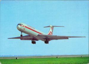 INTERFLUG Turbinenluftstrahlverkehrsflugzeug IL 62 Flugwesen - Flugzeuge 1982