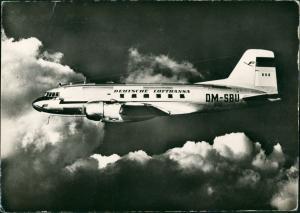 Ansichtskarte  DEUTSCHE LUFTHANSA Mittelstreckenflugzeug 1 L 14 DDR 1957