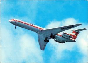 Ansichtskarte  Turbinenluftstrahlverkehrsflugzeug IL 62 INTERFLUG 1981