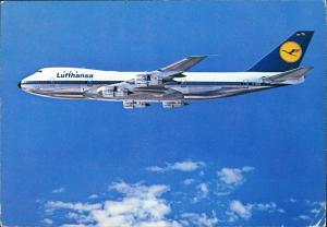 Ansichtskarte  Lufthansa BOEING 747 Flugzeug 1979