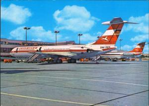 Schönefeld-Berlin IL 62 vor der neuen Passagierabfertigung Interflug 1977
