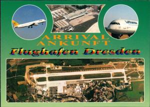 Ansichtskarte Klotzsche-Dresden MB Flughafen Lufthansa Luftbild 1999