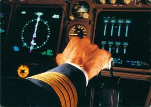 Ansichtskarte  Lufthansa Boeing 747-400 Cockpit Flugwesen - Flugzeuge 1998