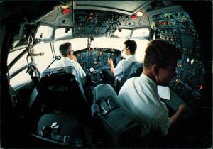 Ansichtskarte  Flugwesen - Flugzeuge BOEING 747 Cockpit 1981