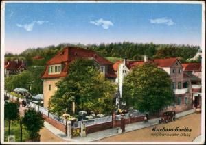 Ansichtskarte Hartha Kurhaus - Straße 1929