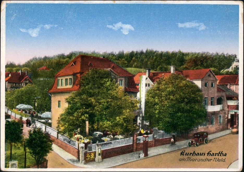 Ansichtskarte Hartha Kurhaus - Straße 1929 0