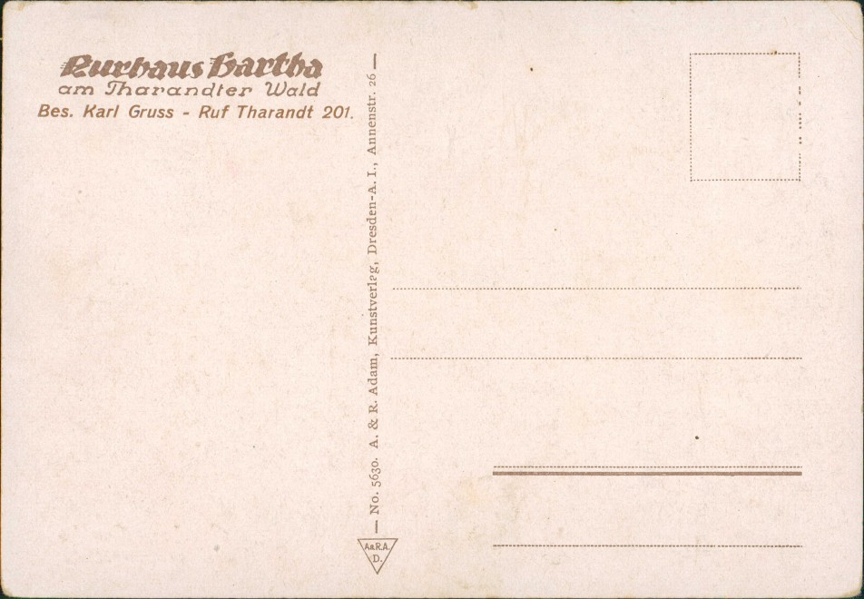 Ansichtskarte Hartha Kurhaus - Straße 1929 1