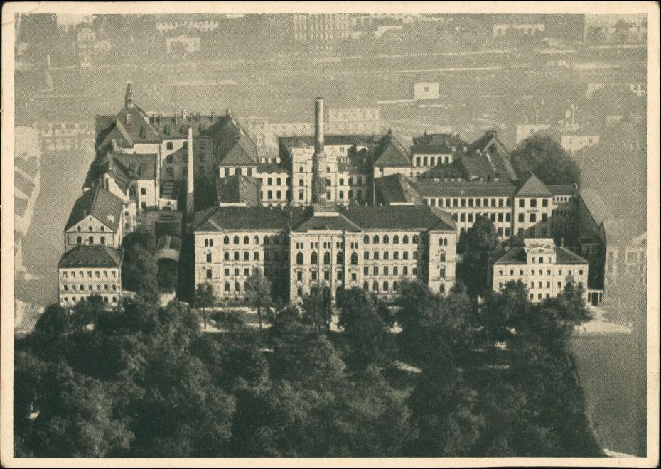 Ansichtskarte Chemnitz Luftbild staatliche Akademie für Technik 1933 0
