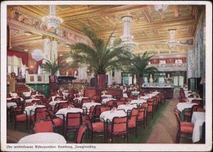 Ansichtskarte Hamburg Alsterpavillon - Innenansicht 1928