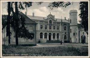 Postcard Pommerzig Pomorsko Partie am Schloß Züllichau Grünberg   1941