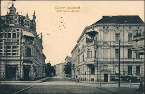 Postcard Küstrin Kostrzyn nad Odrą Schiffbauer Straße 1914