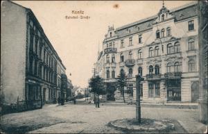 Konitz Chojnice (Kashubian: Chònice) Bahnhofstraße - Geschäfte 1912