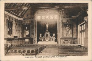 Leobschütz (OS) Głubczyce Aula des Woyrsch Gymnasiums Oberschlesien 1928