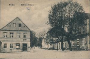 Postcard Sulau (Militsch) Sułów (Milicz) Schloßstraße 1913