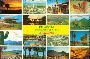 Phöenix Phoenix Multi-View-Postcard Phoenix Arizona Amerika USA 1970