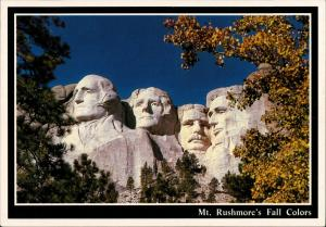 Postcard Keystone (South Dakota) Mount Rushmore National Memorial 1986