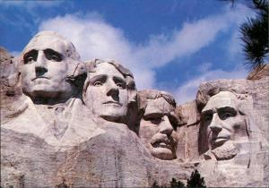 Postcard Keystone (South Dakota) Mount Rushmore National Memorial 1988