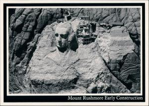 Keystone (South Dakota) Mount Rushmore National Memorial im Bau 1984