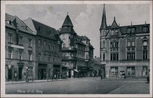 Postcard Pless Pszczyna Ring - Stadt-Cafe 1938