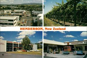 Postcard Auckland HENDERSON Town Centre, Civic C. Shopping Mall 1980