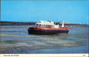 Ryde (Isle of Wight) Luftkissenboot Hovercraft Landung Isle of Wight 1976