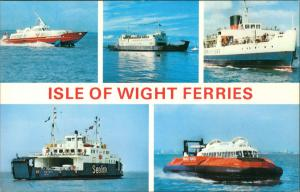 Ryde (Isle of Wight) ISLE OF WIGHT FERRIES Multi-Hovercrafts Schiffe Ships 1970