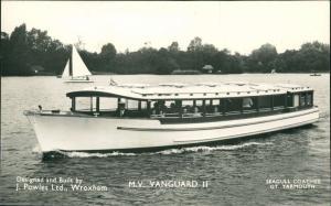 Wroxham Ship Schiffsfoto Fahrgastschiff M.V VANGUARD II J. Powles Ltd. 1960