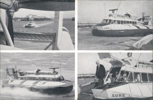 Ramsgate Luftkissenboote Hovercraft Calais Channel Service MB 1965
