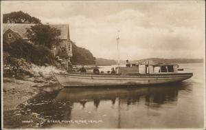 Exmouth (Devon) Private Ship PIONEER at Steer Point River Yealm Devon England 1930