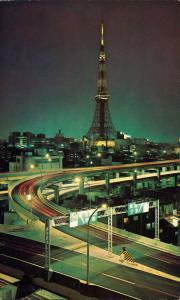 Tokio Tōkyō (東京) Fernsehturm bei Nacht 1972