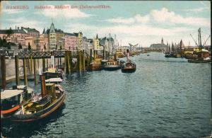 Ansichtskarte Hamburg Hafen - Dampfer 1907