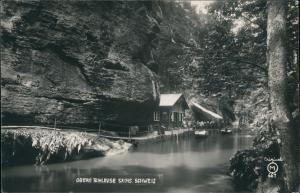 Ansichtskarte Hinterhermsdorf-Sebnitz Obere Schleuse 1912