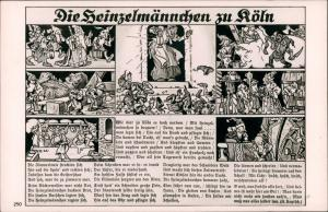 Ansichtskarte Köln Die Heinzelmännchen Kunst Mehrbild-AK 1930