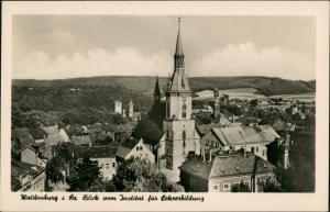 Waldenburg (Sachsen) Panorama Blick vom Institut für Lehrerbildung 1956