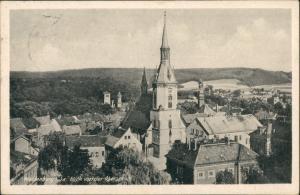 Waldenburg (Sachsen) Panorama-Ansicht Blick von der Oberschule auf Kirche 1955