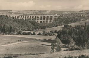 Ansichtskarte Mylau Göltzschtalbrücke Vogtland Panorama Brücke DDR AK 1960