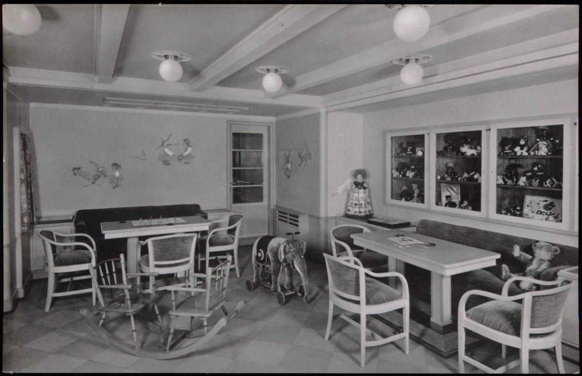 Ansichtskarte Kinderzimmer Dampfer M.S. Caribia Hamburg Amerika ...
